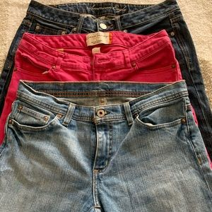 Bundle of 3 jeans! Size 6 AE, French Laundry, RL